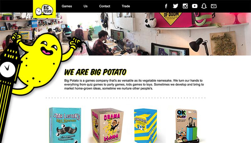 Big potato website screenshot